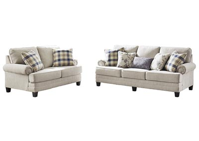Meggett Linen Sofa and Loveseat