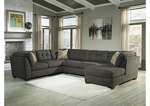 Delta City Steel Left Arm Facing Corner Chaise Sleeper Sectional