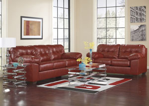 Superbe Alliston DuraBlend Salsa Sofa U0026 Loveseat