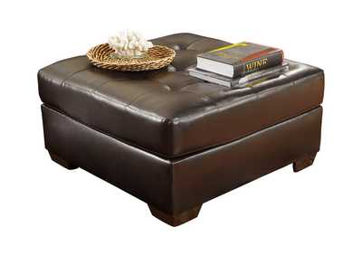Image for Alliston DuraBlend Chocolate Oversized Accent Ottoman