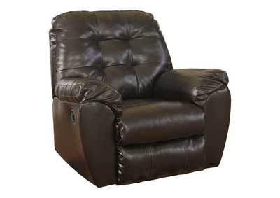 Image for Alliston DuraBlend Chocolate Rocker Recliner