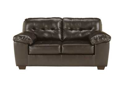 Image for Alliston DuraBlend Chocolate Loveseat
