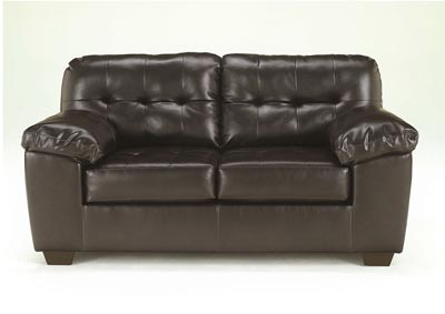 Alliston DuraBlend Chocolate Loveseat