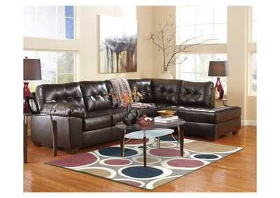 Image for Alliston DuraBlend Chocolate RAF Chaise End Sectional