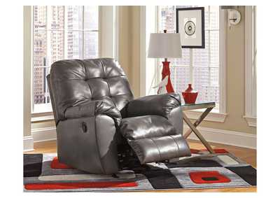 Alliston DuraBlend Gray Rocker Recliner