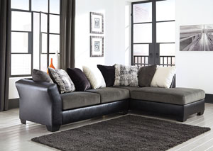 Armant Ebony Sofa w/Right Facing Corner Chaise