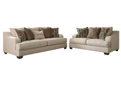 Marciana Bisque Sofa & Loveseat
