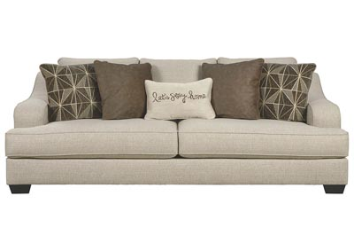 Marciana Bisque Sofa w/5 pillows