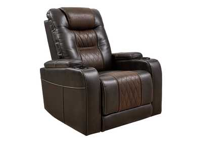 Composer Brown Power Recliner