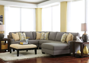 Chamberly Alloy Right Facing Chaise End Sectional