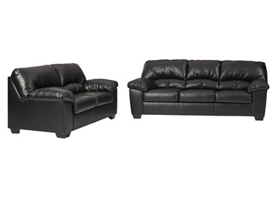 Brazoria Black Sofa and Loveseat