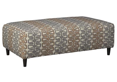 Flintshire Brown Oversized Accent Ottoman