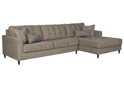 Flintshire Brown Right-Arm Facing Chaise Sectional