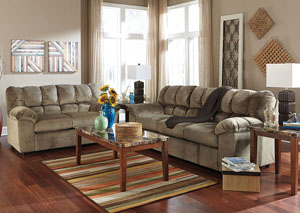 Julson Dune Sofa, Loveseat & Rocker Recliner