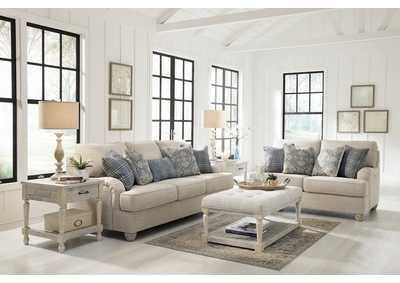 Traemore Linen Sofa and Loveseat