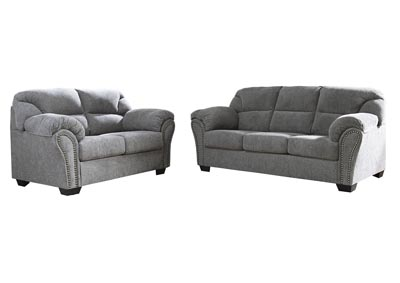 Allmaxx Pewter Sofa and Loveseat