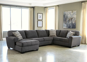 Sorenton Slate Right Facing Sofa Sectional w/ Chaise