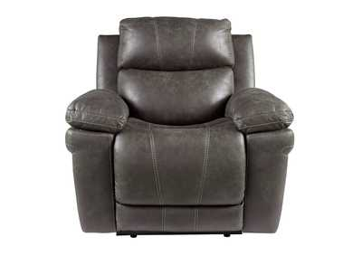 Erlangen Midnight Power Recliner w/Adjustable Headrest