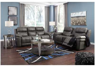 Erlangen Midnight Power Reclining Sofa & Loveseat w/Adjustable Headrest