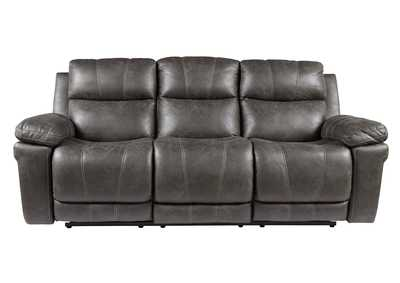 Image for Erlangen Midnight Power Reclining Sofa w/Adjustable Headrest