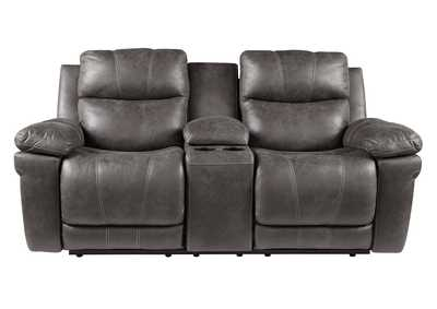 Erlangen Midnight Power Reclining Loveseat w/Adjustable Headrest