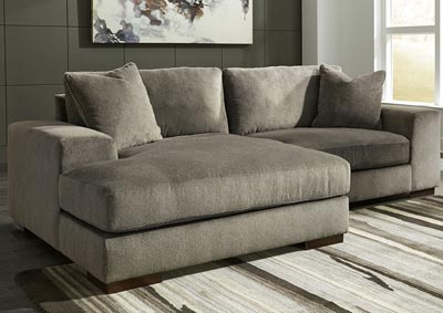 Manzani Graphite Left Facing Corner Chaise Chair Sectional
