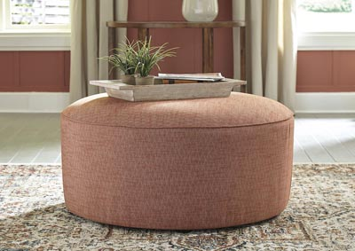 Image for Almanza Wheat Oversized Accent Ottoman