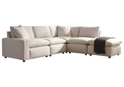 Savesto Ivory LAF Corner Chair Sectional