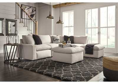Savesto Ivory LAF Corner Chair Sectional,Signature Design By Ashley