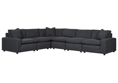Savesto Charcoal Long Sectional