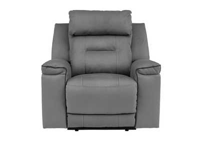 Trampton Smoke Power Recliner w/Adjustable Headrest