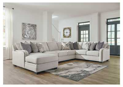 Image for Dellara Chalk 5 Piece LAF Chaise Sectional