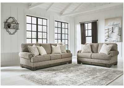 Einsgrove Sandstone Sofa and Loveseat