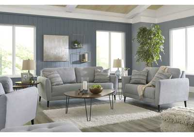 Cardello Steel Sofa and Loveseat