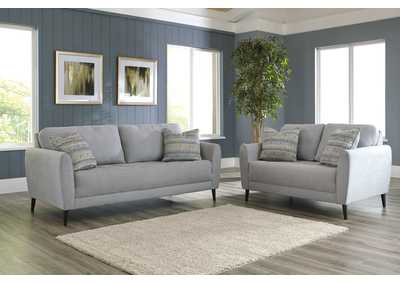 Cardello Pewter Sofa & Loveseat