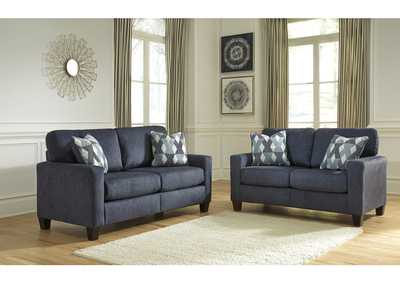 Burgos Navy Sofa & Loveseat