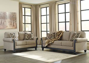 Blackwood Taupe Sofa and Loveseat