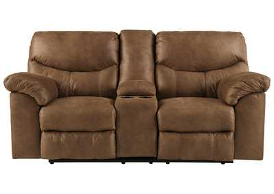 Boxberg Bark Double Reclining Loveseat w/Console