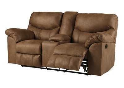 Boxberg Bark Double Power Reclining Loveseat w/Console
