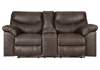 Image for Boxberg Teak Double Reclining Loveseat w/Console