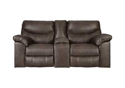 Boxberg Teak Double Reclining Power Loveseat w/Console