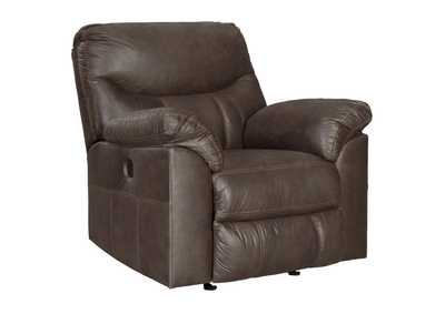Boxberg Teak Leather Power Rocker Recliner