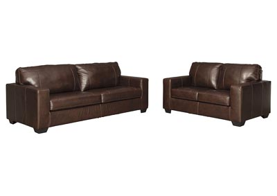 Morelos Chocolate Sofa and Loveseat