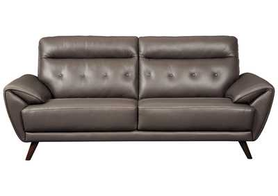 Image for Sissoko Gray Leather Sofa