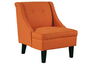 Clarinda Orange Accent Chair