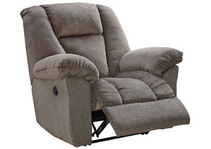 Nimmons Taupe Power Recliner