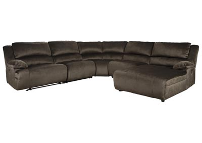 Clonmel Chocolate RAF Power Chaise Sectional