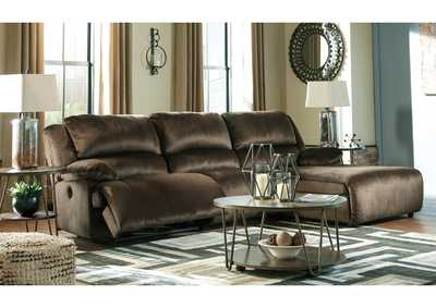 Clonmel Chocolate 3 Piece RAF Chaise Sectional
