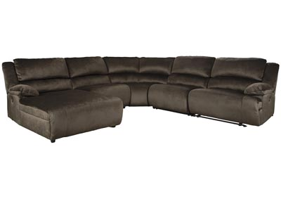 Clonmel Chocolate LAF Power Chaise Sectional