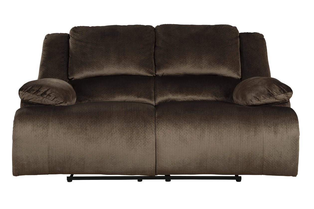 Clonmel Chocolate Reclining Loveseat,Signature Design By Ashley
